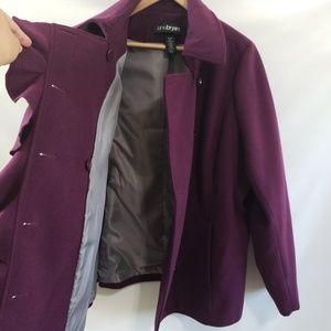 Lane Bryant Jackets & Coats - Lane Bryant Ruffled Peacoat